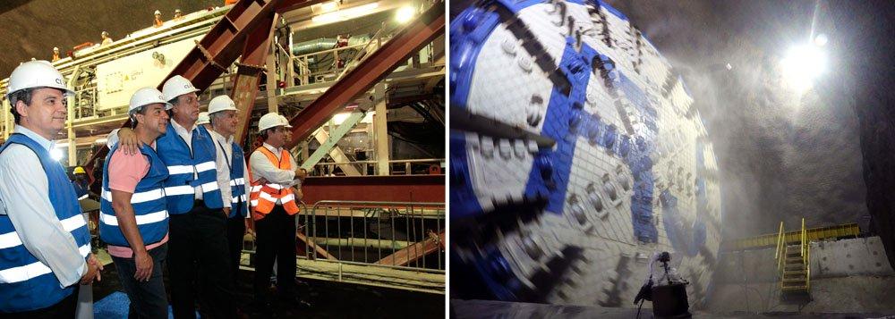 Consórcio Linha 4 Sul utiliza o equipamento Tunnel Boring Machine (Tatuzão), considerado o maior da América Latina, para perfurar aproximadamente 16 quilômetros de extensão; previsão é de que metrô comece a funcionar no primeiro semestre de 2016, transportando mais de 300 mil pessoas por dia e retirando cerca de 2 mil carros das ruas
