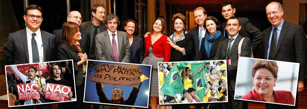 Se a maioria da imprensa brasileira insiste em pesar a mão sobre a cobertura que faz das ações do governo da presidente Dilma Rousseff (PT), as impressões da mídia estrangeira, após encontro com a mandatária do país ontem, foram bem positivas; Onze correspondentes internacionais se reuniram com Dilma na terça (3) e a repercussão do encontro revelou uma Dilma bem diferente da que é mostrada diariamente pelos jornalões do Brasil; de modo geral, textos apontaram dificuldades do país, mas deram à presidente a oportunidade de expor seus pontos de vista e defender seu legado;mídia brasileira seguirá o exemplo?