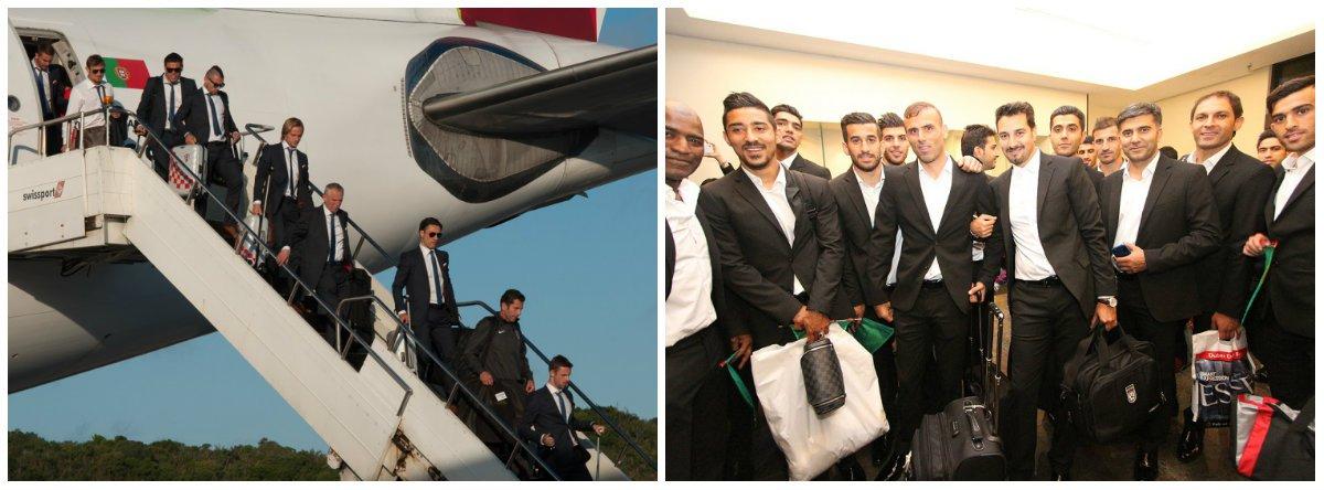 Seleção da Croácia desembarcou em Salvador, na Bahia,e a delegação iraniana, em São Paulo; pelo Twitter, a presidente Dilma Rousseff deu as boas vindas às duas delegações