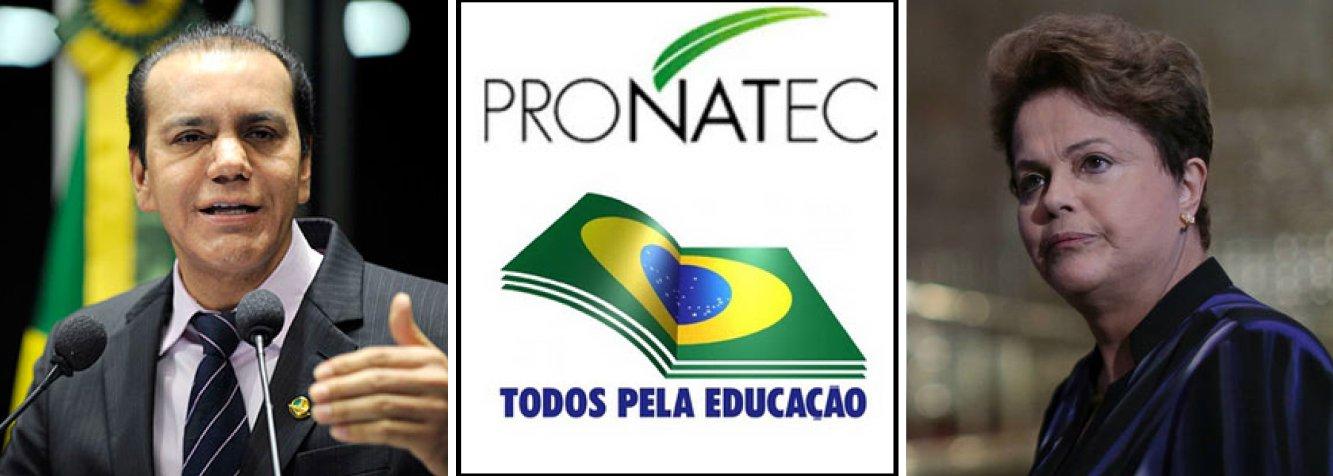 """Em duro discurso contra o Programa Nacional de Acesso ao Ensino Técnico e Emprego (Pronatec), o senador Ataídes Oliveira (PSDB) apontou problemas e afirmou que a plataforma do governo federal foi transformada """"no maior estelionato eleitoral"""" de campanha da presidente Dilma Rousseff; """"São as empresas privadas e as entidades ligadas ao Sistema S que decidem quais cursos serão abertos em cada cidade, apenas com o intuito de receber mais dinheiro público"""", criticou;Ataídes alertou para o fato de não haver estatísticas confiáveis que mostrem o impacto do Pronatec no mercado de trabalho"""