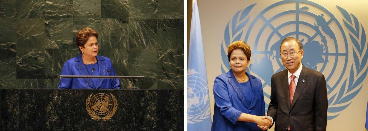 """Chega a ser surpreendente, mas a presidente Dilma Rousseff foi questionada pela imprensa brasileira, após a Assembleia Geral das Nações Unidas, em Nova York, sobre o fato de estar feliz;""""Meu querido, eu sou uma pessoa sempre alegre porque acho que senão não vale a pena viver. Vale? Beijo""""; Dilma tem motivos para estar contente: sua vantagem sobre Marina Silva (PSB) oscila entre 9 pontos (no Ibope) e 18 (no Vox Populi);pesquisa divulgada hoje também colocou o povo brasileiro entre os mais felizes do mundo"""