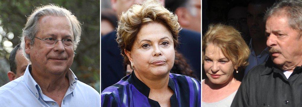 """Presente à cerimônia fúnebre, o ex-ministro José Dirceu comentou sobre o julgamento da Ação Penal 470, o processo do mensalão, e lembrou que, para Gushiken, esse episódio foi """"a fase heroica do PT, porque talvez tenha sido a maior campanha feita contra um partido político no Brasil""""; a presidente Dilma Rousseff, o ex-presidente Lula e o vice-presidente Michel Temer também participaram da última homenagem ao líder petista"""