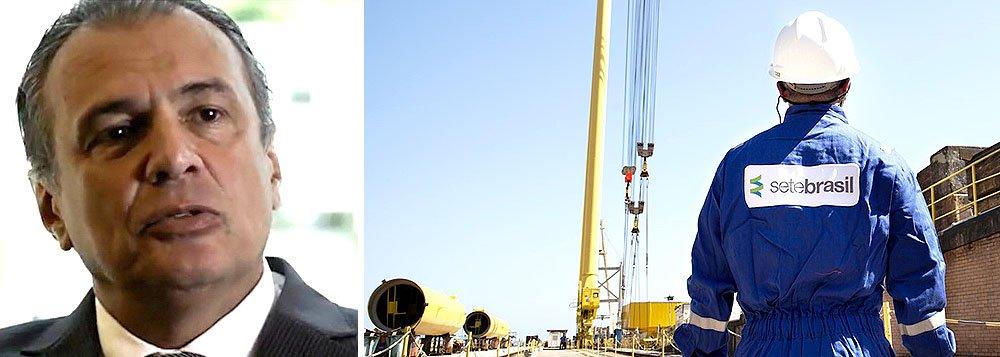 Empresa Sete Brasil, que é controlada pelo banqueiro André Esteves e foi operada por Pedro Barusco, o ex-gerente da Petrobras que irá devolver US$ 97 milhões em propinas, já desembolsou US$ 6,5 bilhões para a produção de sondas no Brasil, mas muitos projetos estão atrasados; empresa enfrenta sérias dificuldades financeiras