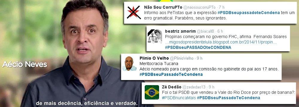 'PSDB, seu passado te condena' bomba nas redes