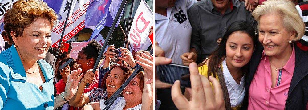 Pesquisa mostra que em qualquer cenário, a presidente Dilma Rousseff (PT) ganharia as eleições no Rio Grande do Sul, com38% das intenções de voto; em segundo lugar está a presidenciável Marina Silva (PSB), com 24%, e, na terceira posição, aparece Aécio Neves (PSDB), com 20%; na disputa pelo governo estadual, Ana Amélia (PP) figura com36% do eleitorado, seguida por pelo governador Tarso Genro (PT), com 26%; o peemedebista José Ivo Sartori ficou com 12% e o pedetista Vieira da Cunha, com 3%