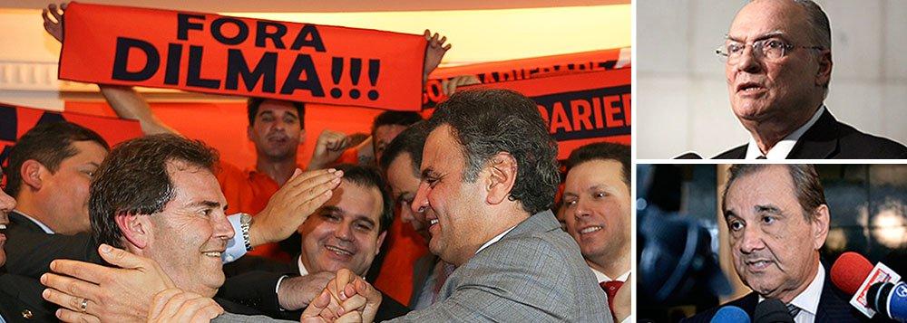 """Os quatro principais partidos de oposição do País, o PSDB, de Aécio Neves, o DEM, de Agripino Maia, o PPS, de Roberto Freire, e o Solidariedade, de Paulinho da Força, estão dando suporte formal aos protestos que estão sendo organizados para o próximo domingo; """"vamos levar bandeiras, camisas e três carros de som"""", diz Paulinho; """"iremos com bandeiras do Brasil"""", diz Freire; tucanos articulam movimentos como o 'vemprarua' e o 'ondaazul'; Agripino sugeriu até uma mudança brusca, ao falar do panelaço; """"Dizer que isso é um movimento pequeno é subestimar aquilo que, Deus nos livre, pode estar por vir"""", afirmou"""