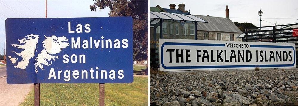 A Grã-Bretanha disse que qualquer tentativa da Argentina de confiscar os ativos de companhias de petróleo que operam nas disputadas ilhas Malvinas, chamadas pelos britânicos de Falklands, será ilegal; no sábado, um juiz federal de Tierra del Fuego ordenou o confisco de US$ 156 milhões em contas bancárias, embarcações e outras propriedades de seis companhias de petróleo europeias e norte-americanas operando nas ilhas