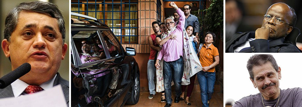 """Deputado federal José Guimarães (PT-CE) lembra que o irmão, José Genoino, """"é uma pessoa de vida simples"""", que """"nunca acumulou nada""""; """"O único bem que ele tem é a casa onde mora, não tem como vender""""; ex-presidente do PT tem dez dias para pagar uma multa de R$ 468 mil, conforme determinou ontem a Justiça do DF; """"Vamos conversar isso com o PT, com os amigos"""", disse Guimarães, indicando que se buscará ajuda para o pagamento; na internet, uma campanha arrecada doações para pagar a multa;parlamentar fala ainda em """"ação direcionada contra o PT"""" ao comentar o mandado de prisão do presidente do STF, Joaquim Barbosa, contra João Paulo Cunha; """"O responsável por tudo isso, que é o delator, está aí, e não acontece nada"""", disse, sobre Roberto Jefferson"""