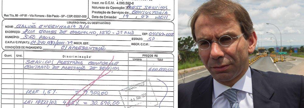 """Advogado José Luiz de Oliveira Lima, que defende a Galvão Engenharia, apresentou à Justiça uma nota fiscal de R$ 660 mil emitida pela empresa LFSN Consultoria; segundo ele, o valor foi pago ao empresárioShinko Nakandakari, para que a construtora não fosse vítima de retaliações em seus contratos;""""Meu cliente foi vítima dos crimes de extorsão e concussão"""", diz Oliveira Lima; ao todo, as propinas somariam R$ 8,8 milhões"""