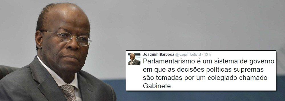 JB volta a criticar parlamentarismo de Cunha no Twitter