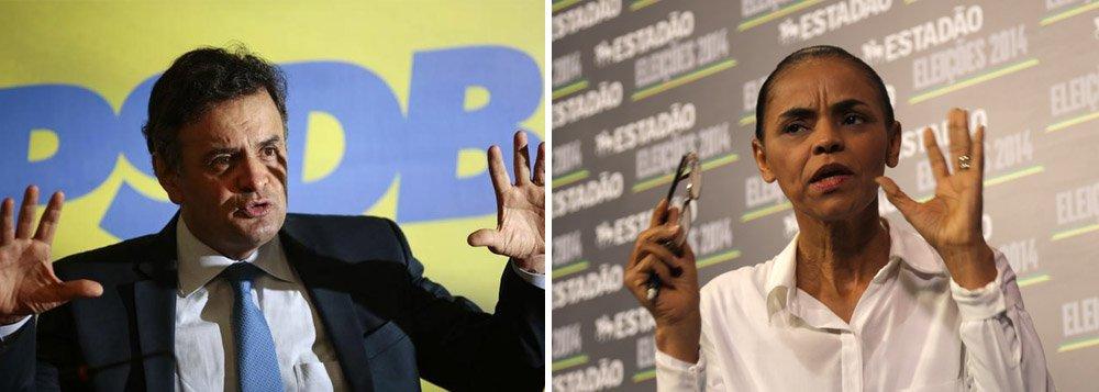 """Um dia depois de rumores sobre desistência terem cercado o candidato do PSDB, Aécio Neves reforça convicção de que chegará ao segundo turno e até vencerá as eleições presidenciais; em entrevista nesta manhã, ele declarou que o governo da presidente Dilma Rousseff """"fracassou"""" e que ela """"vai perder as eleições""""; por isso, restariam ele e Marina Silva; a candidata do PSB, porém, tem """"um conjunto de contradições muito grandes"""" e precisa explicar """"com clareza"""" como será sua gestão; """"O Brasil não aguenta uma incerteza no seu horizonte, uma nova aventura"""""""