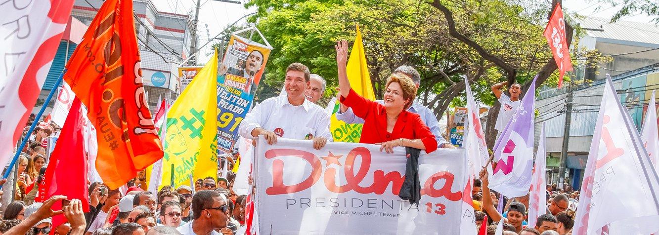 Números das pesquisas Ibope e Datafolha divulgados no início da noite desta quarta-feira, 3, foram avaliados por integrantes da campanha da presidente Dilma Rousseff como uma reversão da tendência de queda de Dilma; o avanço da candidata Marina Silva também foi contido; mas o clima é de cautela no núcleo petista, por conta do desempenho de Marina no segundo turno, mesmo com a diferença reduzida em relação a Dilma; se nas próximas pesquisas houver a confirmação da retomada do crescimento de Dilma e se a candidatura de Marina estagnar, marketeiro João Santana terá mais liberdade para tomar decisões na campanha; realizações da presidente devem continuar a ser destacadas