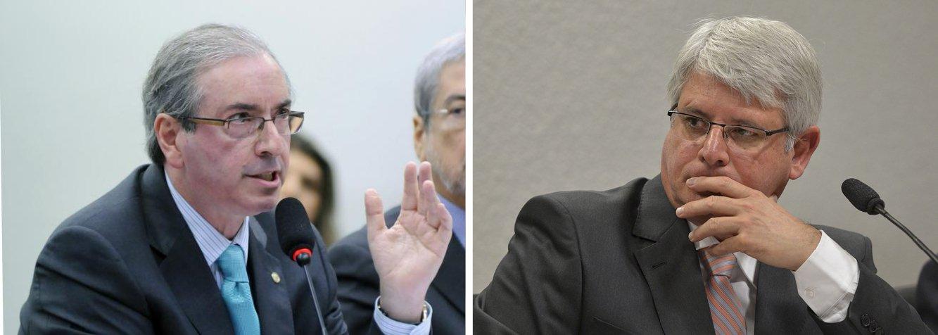 """Presidente da Câmara dos Deputados, Eduardo Cunha (PMDB-RJ) afirmou, em depoimento na CPI da Petrobras, que houve motivação política para a citação de seu nome na lista com pedido de abertura de inquérito encaminhada ao STF pelo procurador-geral da República, Rodrigo Janot, com base nas investigações da Operação Lava Jato, da PF; """"O Ministério Público escolheu a quem investigar; não investigou a todos, não teve um critério único para todos e, por motivações de natureza política, ele escolheu aqueles que eram alvos de investigação"""", disse Cunha"""