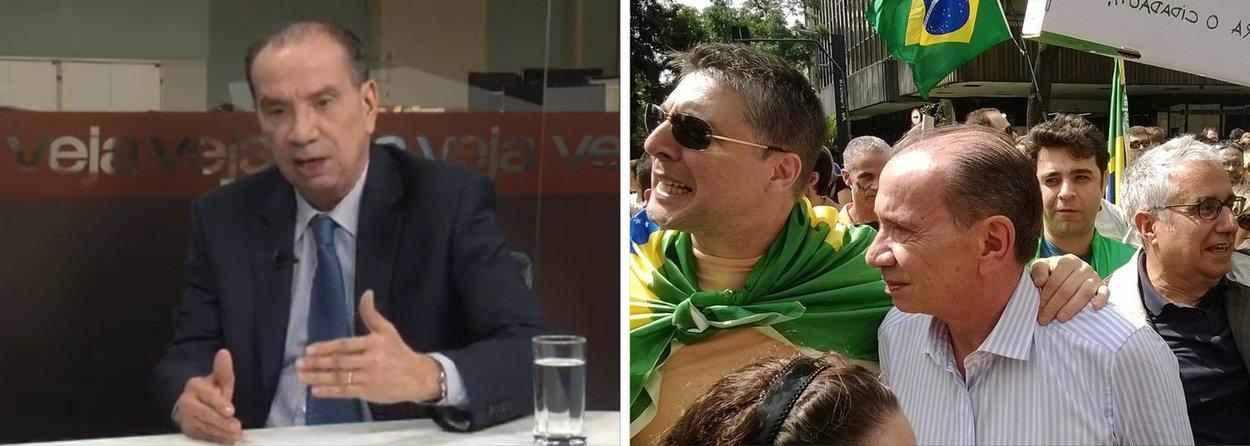 """Vice de Aécio afirma que esta é a consequência jurídica da qual a presidente Dilma Rousseff tenta fugir ao tentar aprovar no Congresso o projeto que altera o cálculo da meta fiscal; se não cumprir a meta, diz Aloysio Nunes em entrevista à Veja, Dilma comete """"crime de responsabilidade fiscal"""", o que pode levar ao """"impeachment""""; em seguida, o líder do PSDB simula moderação à própria frase; """"agora, é claro que o impeachment não é uma coisa trivial, tem que ser muito bem demonstrado"""", diz ele, lembrando, no entanto, que a legislação """"dá essa margem""""; senador tucano, ex-guerrilheiro,esteve recentemente no protesto da Avenida Paulista que pediu o impeachment da presidente e a volta do regime militar"""