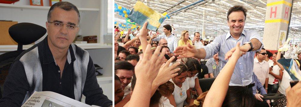 """Delação do ex-diretor da Petrobras """"assombra"""" PT e PSB e pode servir como tentativa para o tucano Aécio Neves voltar a ter chance de chegar ao segundo turno, mas com seus próprios casos de corrupção para lidar, o PSDB tem """"pouca credibilidade para atacar o PT"""", avalia o jornalista"""