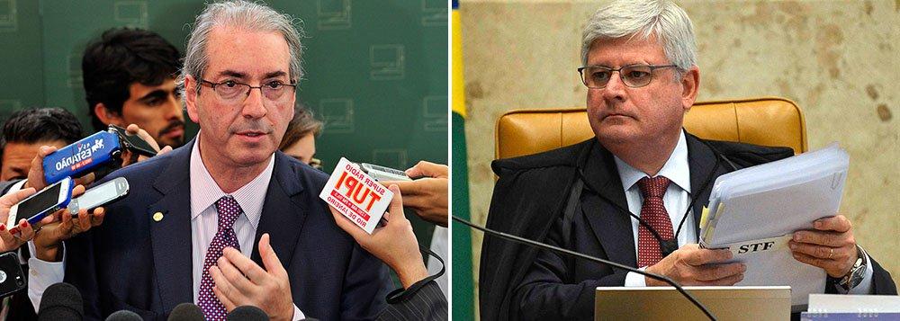 """Presidente da Câmara, Eduardo Cunha (PMDB) negou que tenha sido avisado que seu nome estaria na lista de Rodrigo Janot entre os dos políticos investigados por desvios na Petrobras; por ora, parlamentar disse que a noticia é só """"uma especulação"""", mas diz esperar """"que não sejam investigações de natureza política""""; 'Nenhuma apreensão, estou absolutamente tranquilo. Qualquer outra """"alopragem"""" que possa aparecer estarei pronto sempre a esclarecer', acrescentou"""