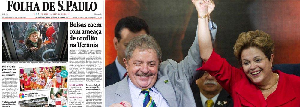 """Jornal de Otavio Frias atribui aos dois mandatos de Lula, """"que obteve reconhecidos êxitos na elevação do padrão de vida dos mais pobres"""", a consolidação do que chama de âncora político-eleitoral que garante vantagem expressiva a presidente Dilma Rousseff em 2014; quanto a seus adversários, diz que Aécio Neves (PSDB), Eduardo Campos e Marina Silva, ambos pelo PSB, têm falhado ao se apresentar como alternativas convincentes para esses setores de renda mais baixa"""