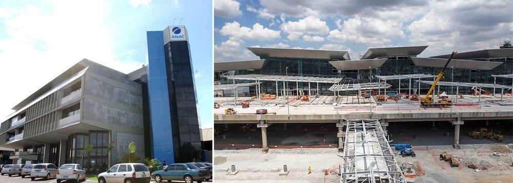Segundo o balanço da fiscalização da agência, no aeroporto de Guarulhos, apenas 87,78 por cento das obras estavam concluídas até janeiro, que devem ser entregue até 11 de maio; previsões para Brasília e Viracopos também não foram cumpridas; concessionárias podem sofrer penalidades, inclusive multas