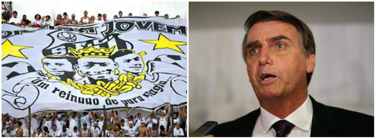 Torcida Jovem do Santos: Bolsonaro não representa os interesses do povo