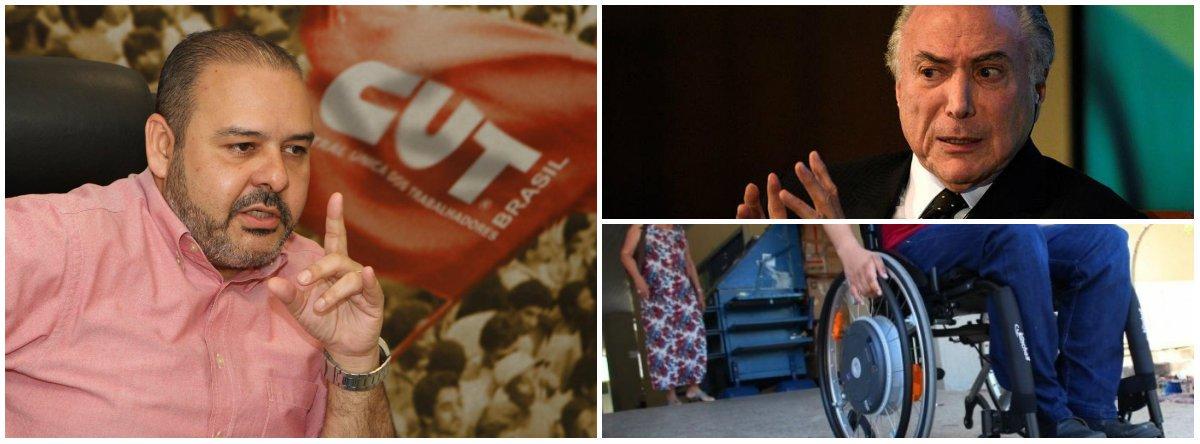 CUT: é preciso derrotar o golpe para garantir os direitos dos deficientes