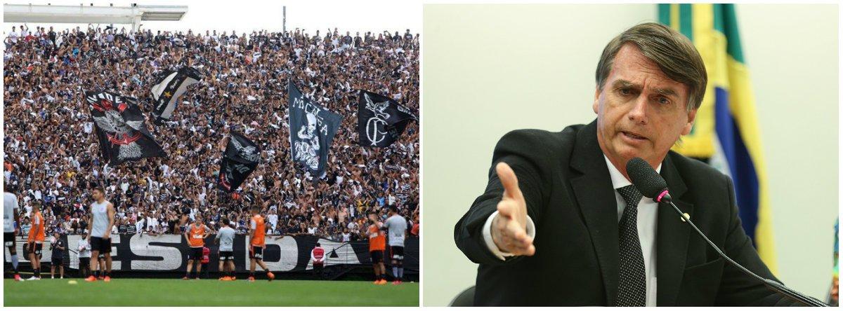 Gaviões da Fiel reforça posição sobre Bolsonaro: contra todo ditador