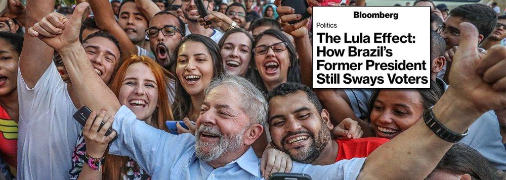 Bloomberg: da prisão, Lula domina eleições