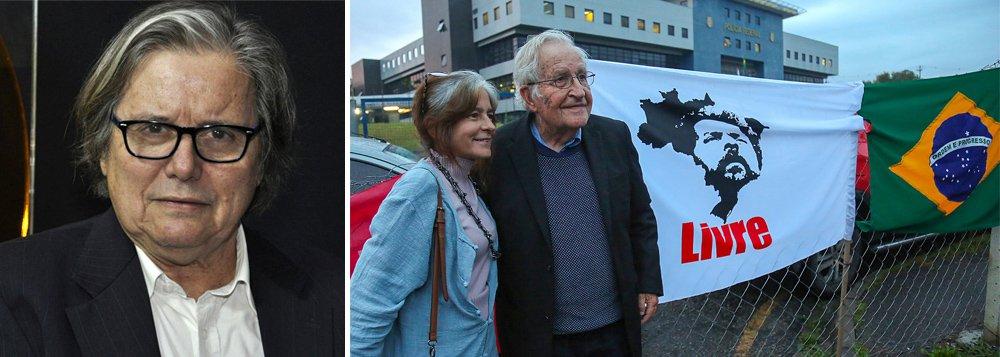 PML: visita de Chomsky a Lula refirma grandeza mundial do ex-presidente