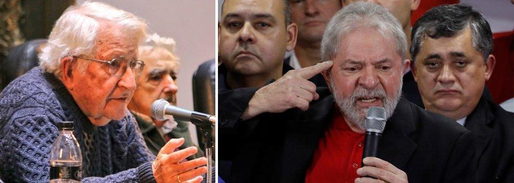 Noam Chomsky visita Lula em Curitiba nesta quinta