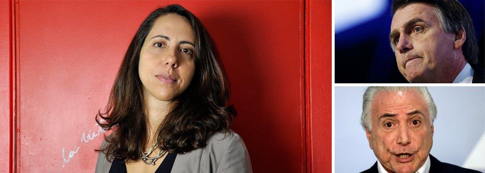 Programa de Bolsonaro é o de Temer ao quadrado, diz Laura Carvalho