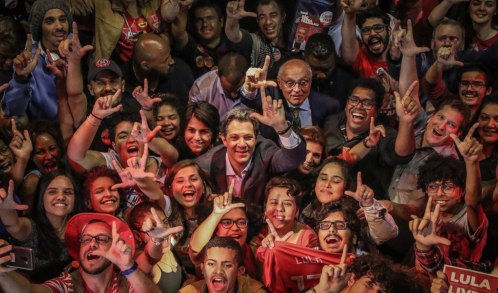 Datafolha coloca Haddad no segundo turno, com 16%, contra Bolsonaro