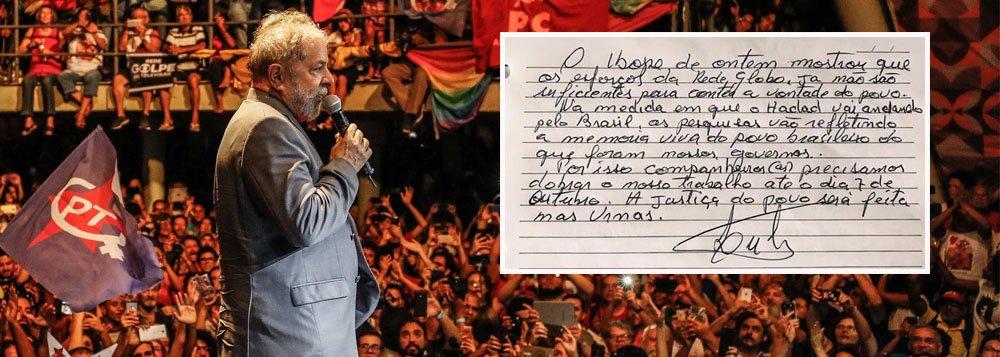 Lula: Ibope prova que esforço da Globo não foi suficiente