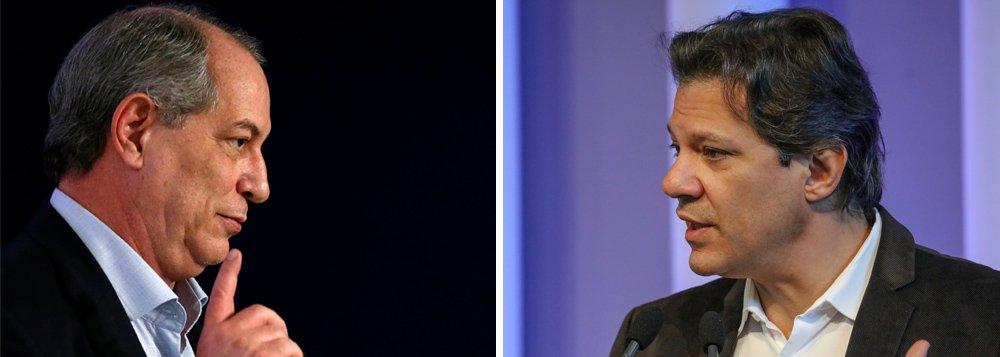'Presidente tem que ter autocontrole', diz Haddad a Ciro