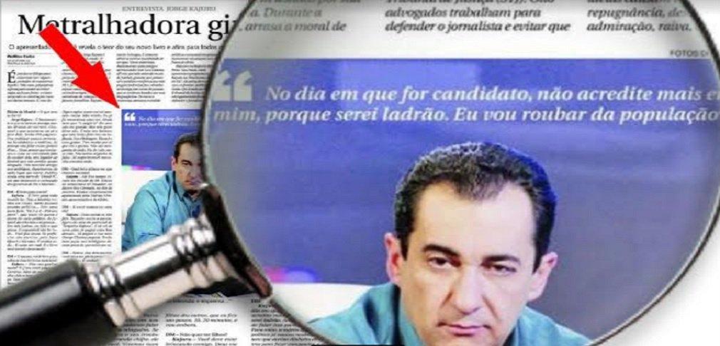 """Kajuru, em 2007: """"No dia em que eu for candidato, serei ladrão. Vou roubar da população"""""""