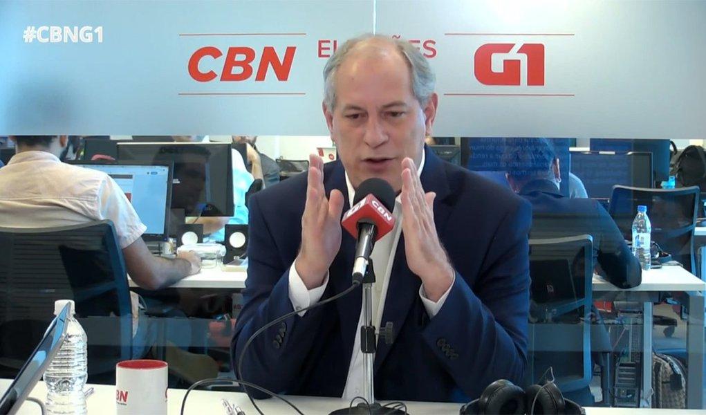 Ciro: Alckmin vendeu a alma por tempo de TV e paga preço amargo