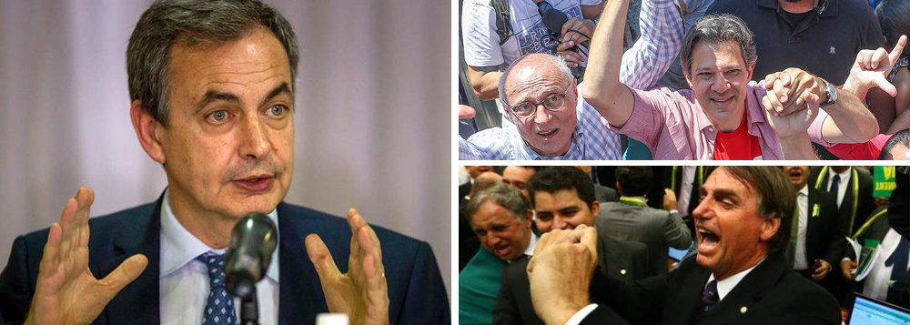 Zapatero: eleição no Brasil será decisiva para América Latina e o mundo