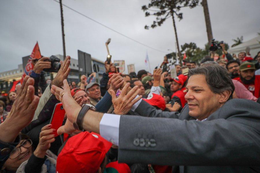 Ibope deve mostrar Haddad com 19%, no segundo turno contra Bolsonaro