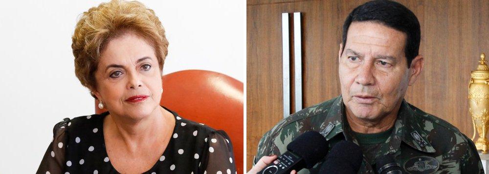 Dilma repudia preconceito de Mourão contra mães e avós 'heroínas'