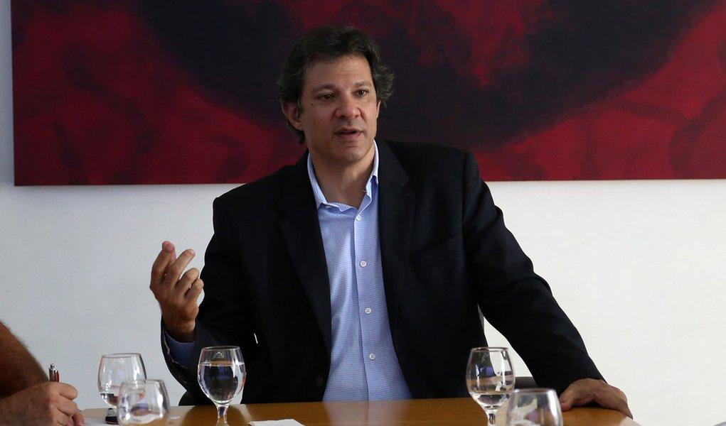 Haddad: Lula é inocente e PT não trabalha com hipótese dele inelegível