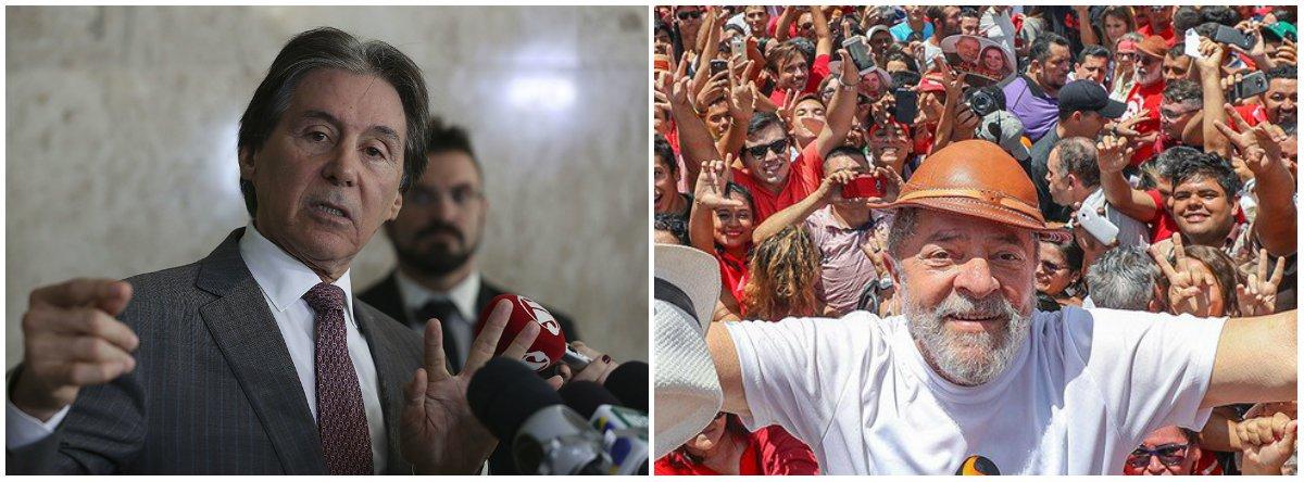 Eunício diz que Lula está preso por ser nordestino