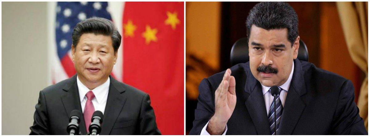 China ajudará Venezuela a resistir a sanções dos EUA