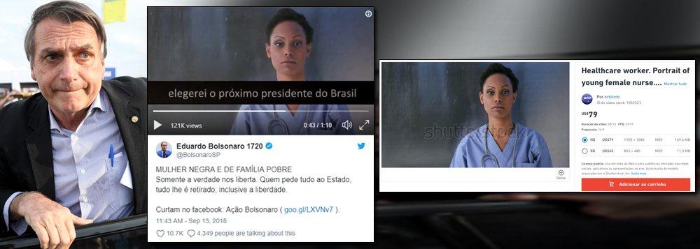 Campanha de Bolsonaro usa modelo estrangeira no papel de mulher negra e pobre