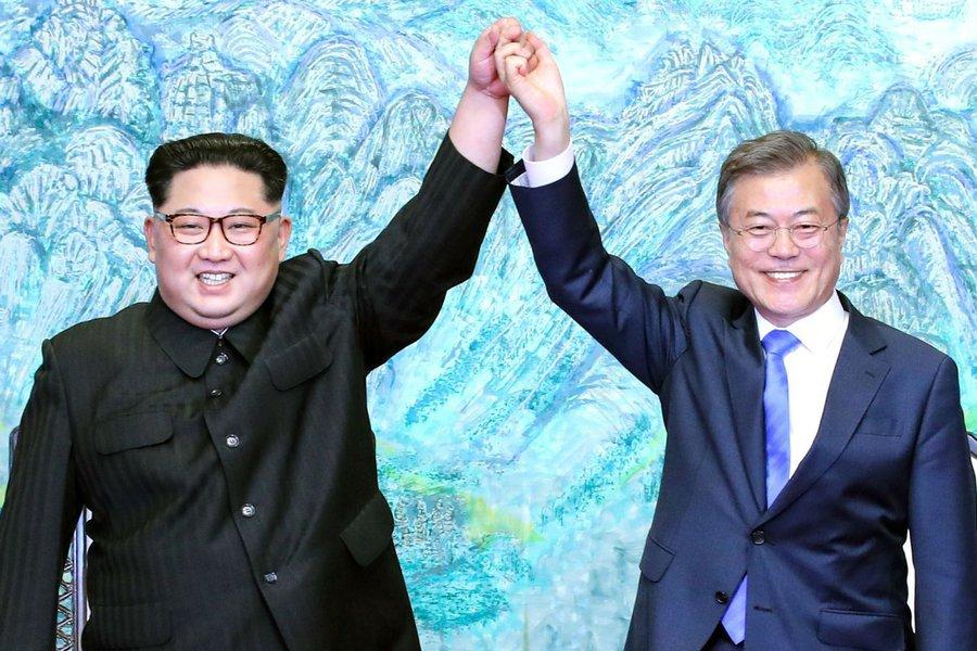 Kim Jong Un recebe presidente sul-coreano em Pyongyang