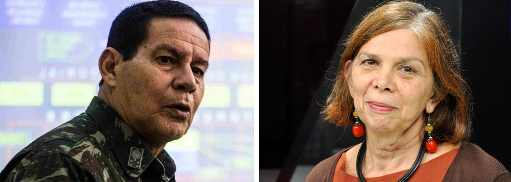 Vera Paiva: falas do general Mourão remetem ao nazismo