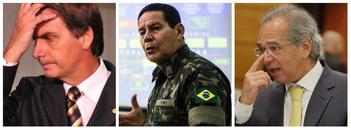 Irritado, Bolsonaro manda Mourão e Guedes ficarem quietos