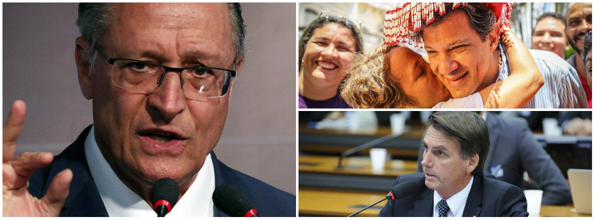 Até eleitor de Alckmin prefere Haddad a Bolsonaro no 2º turno