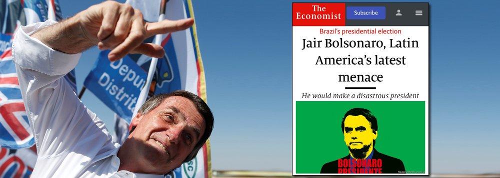 Economist aponta ameaça Bolsonaro e constrange apoio das elites ao fascismo