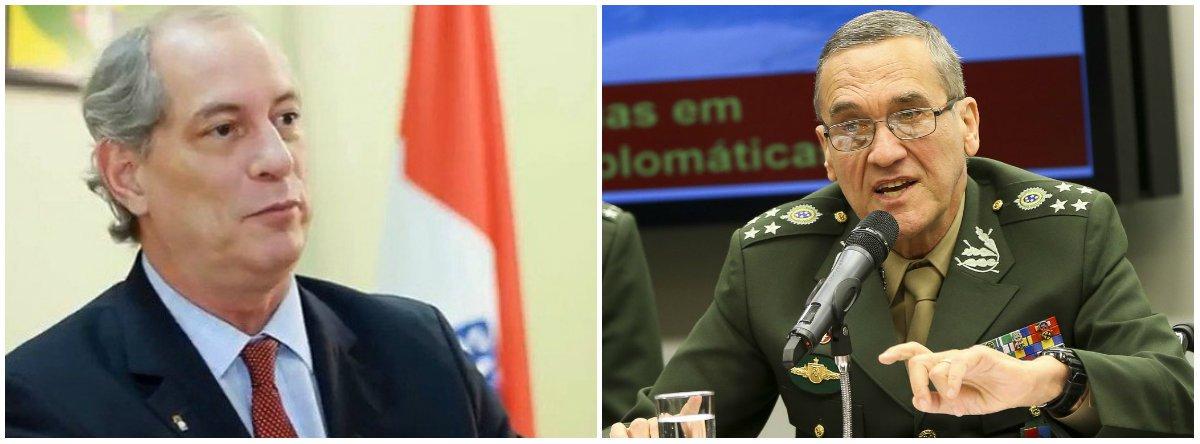 Ciro afirma que demitiria e prenderia o general Eduardo Villas Bôas