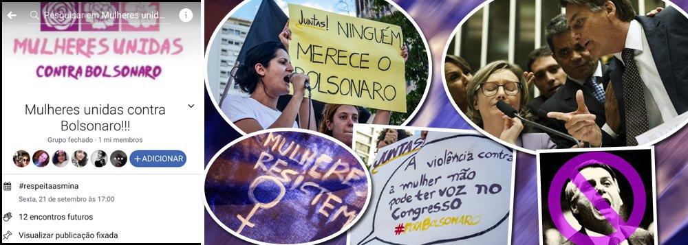 'Mulheres Unidas contra Bolsonaro' já são mais de 1 milhão e vão às ruas