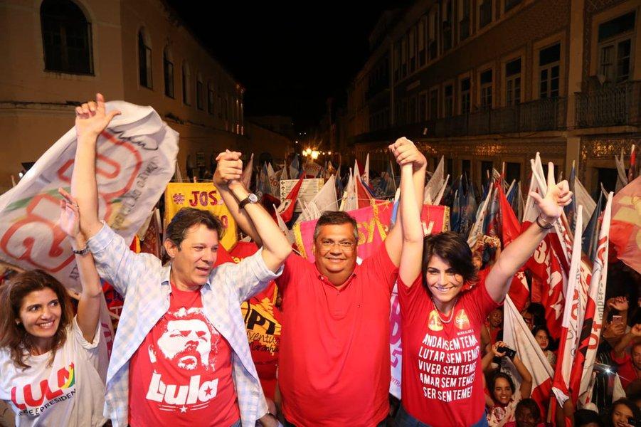 Dino defende Lula e pede voto para Haddad