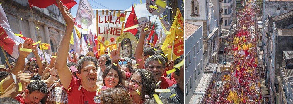 """""""O cara que mais amou o Brasil é hoje injustiçado"""", diz Haddad no Recife"""